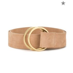 B-Low the belt leather belt with gold accent rings